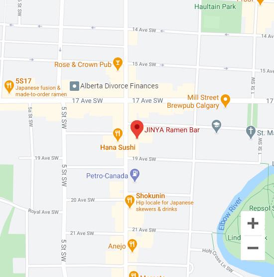Map of Jinya 1800 4 St. SW Calgary, AB T2S 2S4