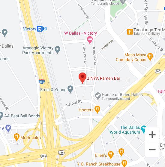 Map of Jinya 625 High Market St. Dallas, TX 75219