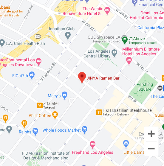 Map of Jinya 700 Wilshire Blvd. Los Angeles, CA 90017