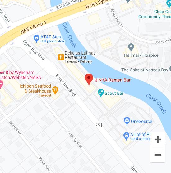 Map of Jinya 18299 Egret Bay Blvd. Houston, TX 77058