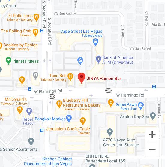Map of Jinya 4860 W. Flamingo Rd. Las Vegas, NV 89103