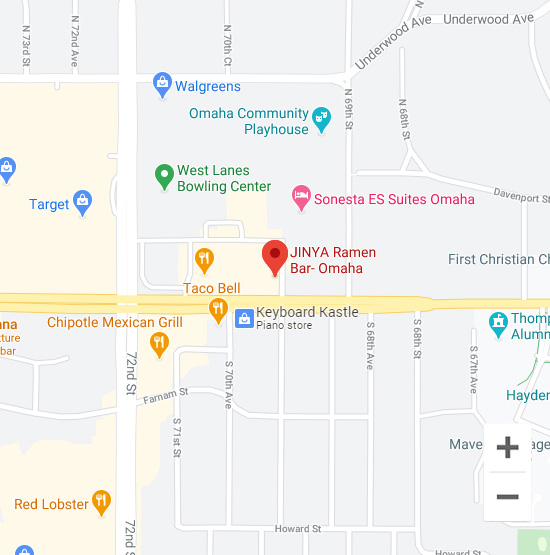 Map of Jinya 7010 Dodge St. Omaha, NE 68132