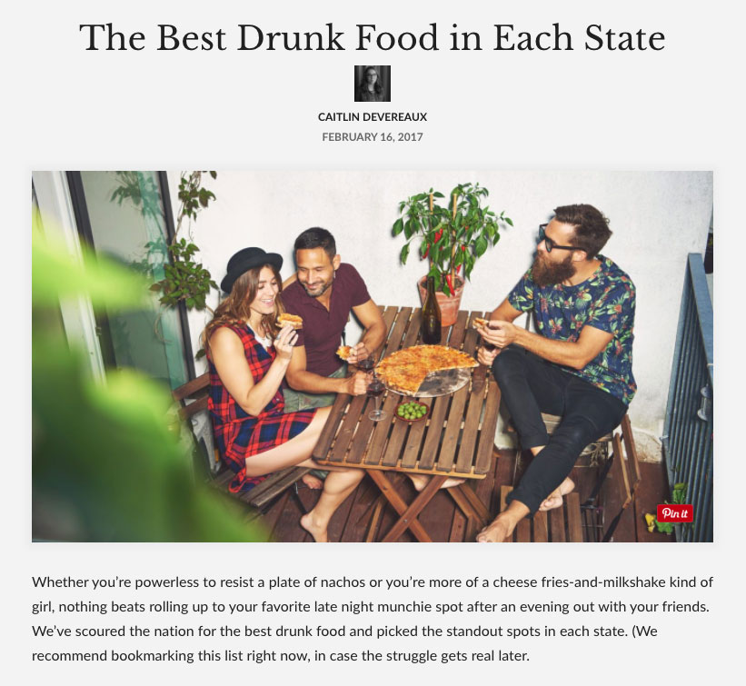 Entity: The Best Drunk Food in Each State