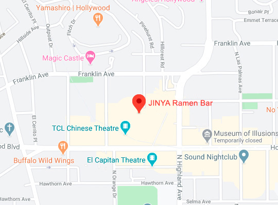 Map of Jinya Hollywood and Highland