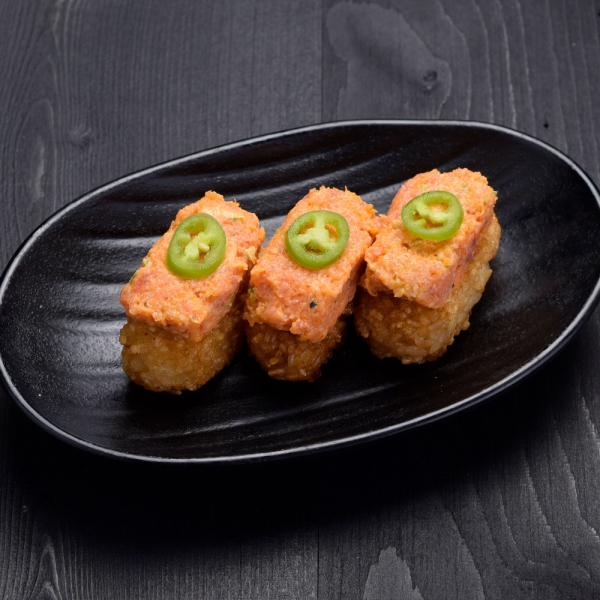 Click to expand image of Crispy Rice with Spicy Tuna.