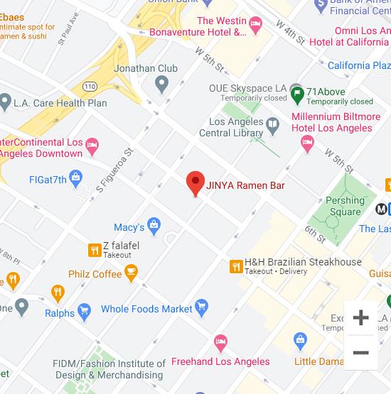 Map of Jinya 700 Wilshire Blvd. Los Angeles, CA 90017