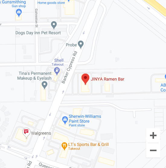 Map of Jinya 11930 Barker Cypress Rd. Cypress, TX 77433
