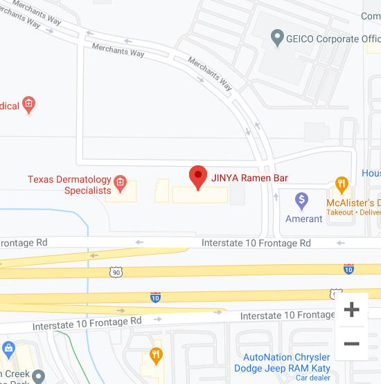Map of Jinya 21788 Katy Freeway Katy, TX 77449
