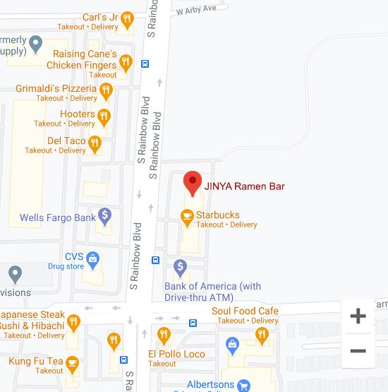 Map of Jinya 7240 South Rainbow Blvd. Las Vegas, NV 89118