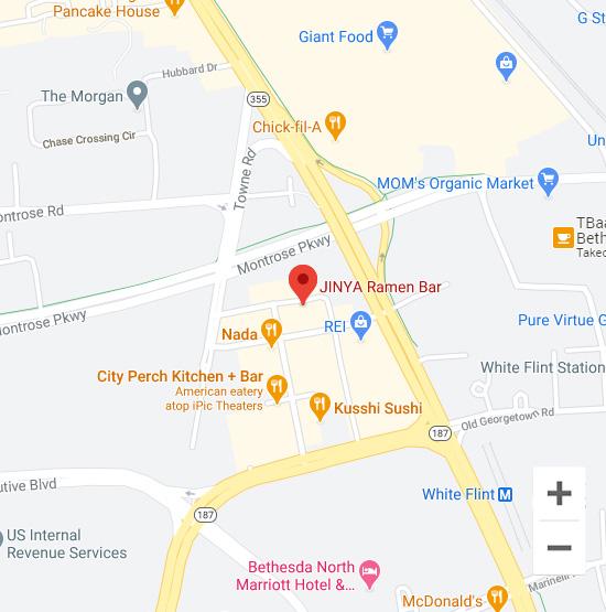 Map of Jinya 910 Prose St. North Bethesda, MD 20852