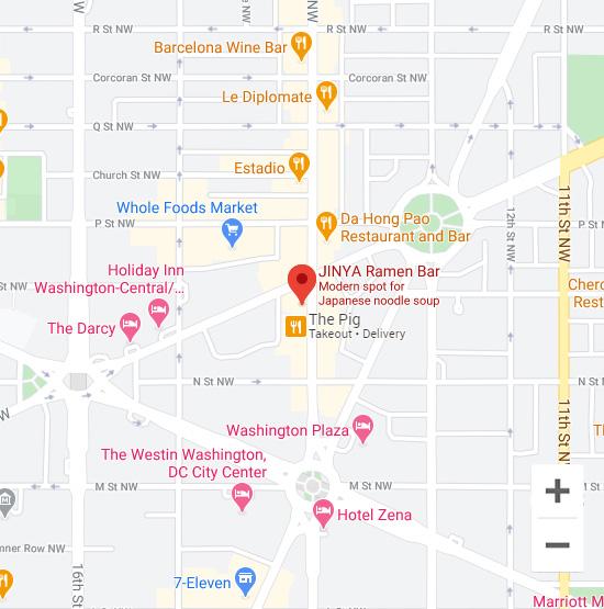 Map of Jinya 1336 14th Street NW Washington, DC 20005