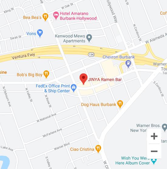 Map of Jinya 4011  W Riverside Dr. Burbank, CA 91505