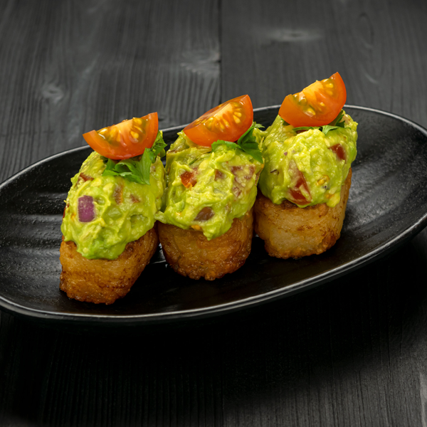 Click to expand image of Vegan Crispy Rice with Guacamole.